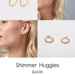 BRAND NEW* Gorjana Shimmer Huggies earrings.